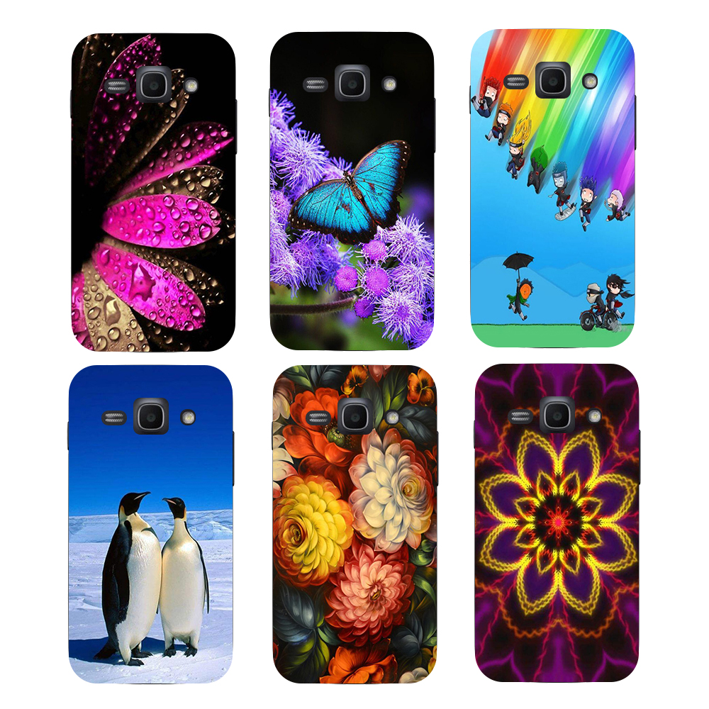 Original Goospery Color Pearl Jelly Flexible Tpu Soft Cover Case For Samsung Galaxy Grand Prime J2 Black Patterned Ace3 Ace 3 Iii S7270 S7272 S7275 S7278 Flower Bear