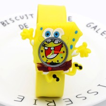 Cartoon SpongeBob kids watches children toy watches 3D eye Loop studen