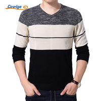 Covrlge Men S Sweater 2017 Autumn New Fashion V Neck Sweater Men Striped Pullover Sweaters Casual