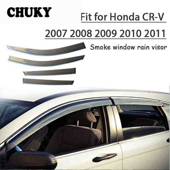 Chuky 4pcs ABS Car Styling Window Visors Awnings Shelters Rain Shield For Honda CR-V 2007 2008 2009 2010 2011 Auto Accessories