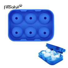 FILBAKE 6 Cavity Ice Cube Mold Circular Type Mousse Mould For Creams Chocolates  Cake Pan Bakeware Accessories High Quantity