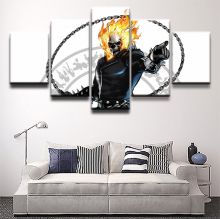 Ghost Rider Movie 5 Pieces Print Poster Canvas Painting Wall Art Living Room HD Home Decor Modern Decorative