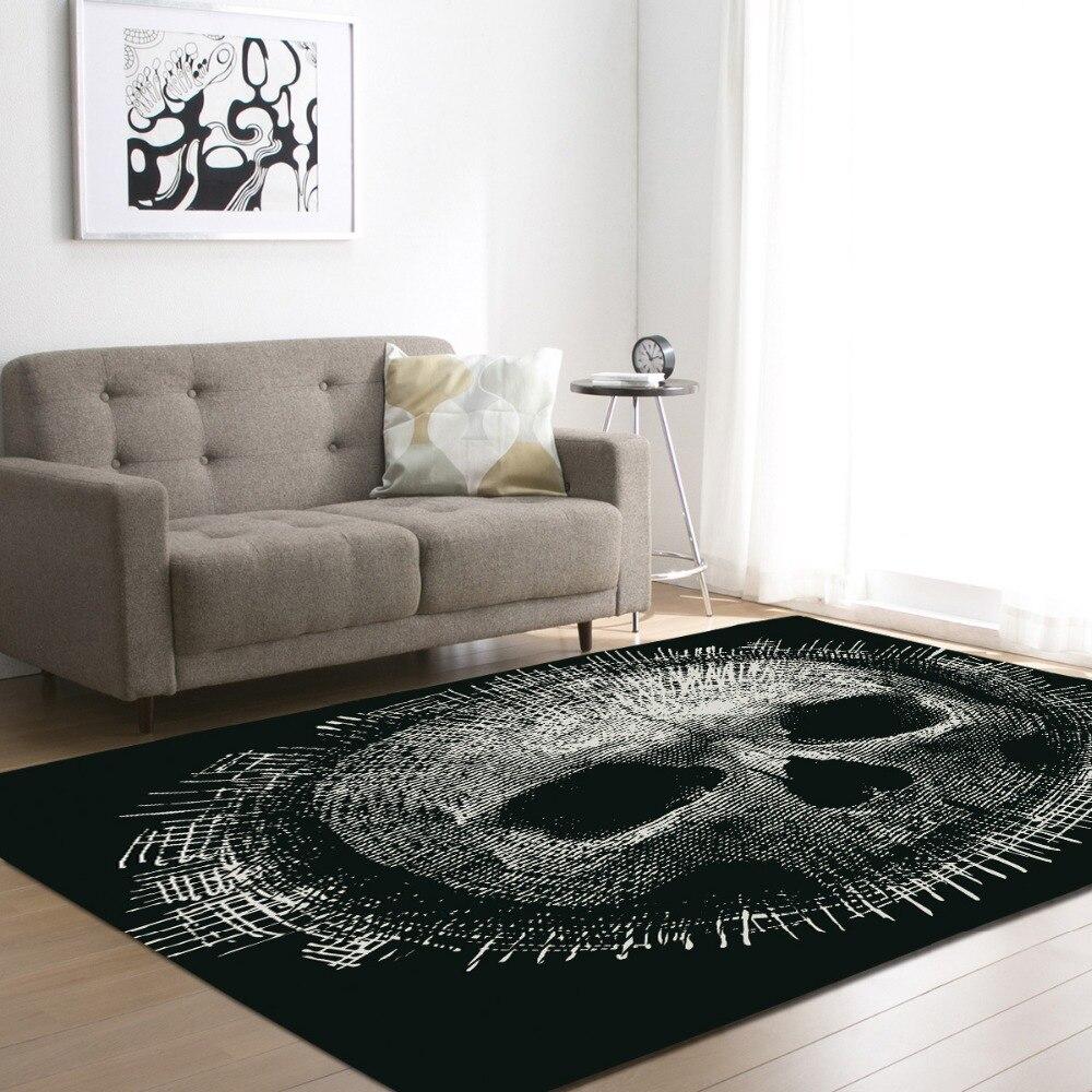 Personnalité 3D crâne flanelle velours mémoire mousse plus grand tapis jeu tapis bébé salon zone tapis chevet tapis R617