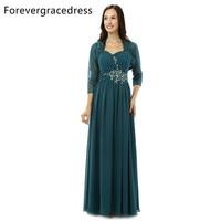 Forevergracedress Винтаж мать невесты платье с курткой этаж Длина длинные Вечеринка платье плюс Размеры индивидуальный заказ