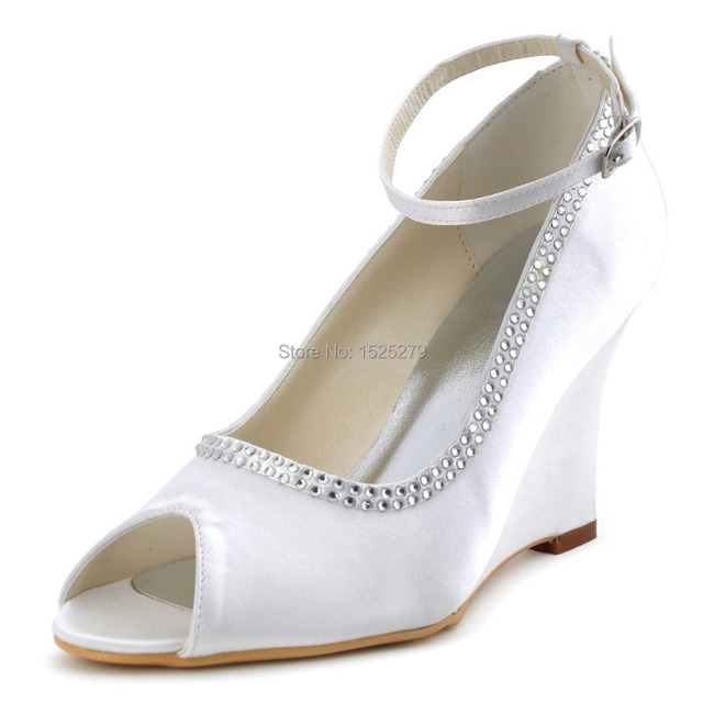 A2071 bianca Ivory Donna Bridal Peep Toe Prom Party  Bride Pumps   Party cd602f