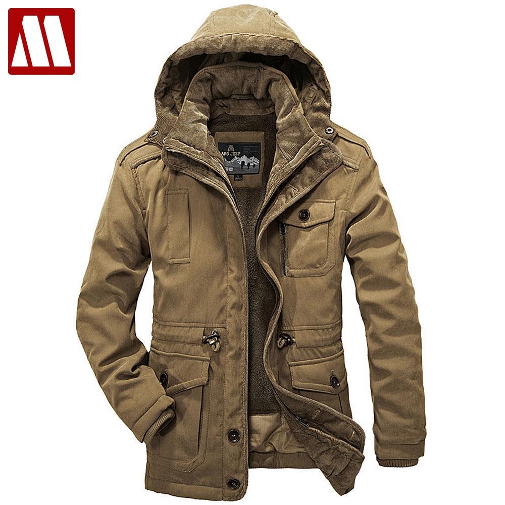 Detachable Fur Liner Winter Coat Men Hooded Jackets New