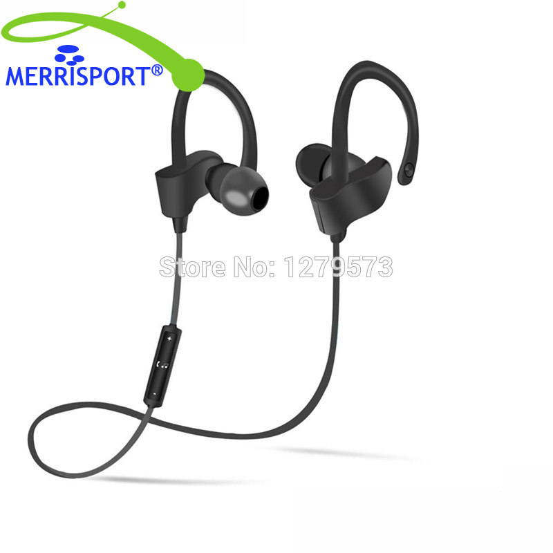 MERRISPORT Bluetooth Earbuds with Microphone, Comfortable Headphones For iphone Tablet Samsung HTC Up To 7 Hr Music Play Black dreamersandlovers bluetooth earbuds with microphone comfortable headphones with noise cancellation up to 7 hr music play black