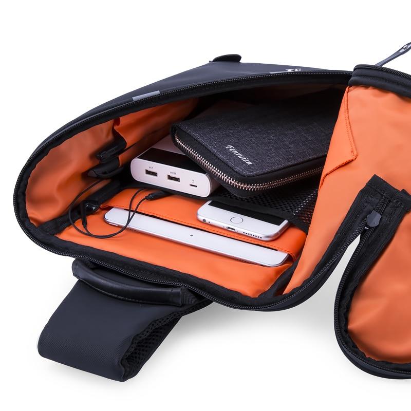FENRUIEN Anti-Stöld Crossbody Bag Casual Men Bröstväska Vattentät - Handväskor - Foto 5