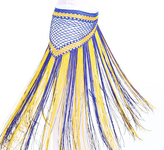 Mix Color Argentina Triangle Hip Scarf Long Tassels Shawl Belly Dance Costumes