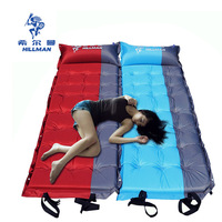 Hillman Outdoor tent mat picnic sleeping pad widened thickening automatic air cushion inflatable beach bed mat can be Splicable