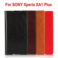 Lnobern High Quality Genuine Cowhide Leather Wallet Case For SONY Xperia XA1 Plus