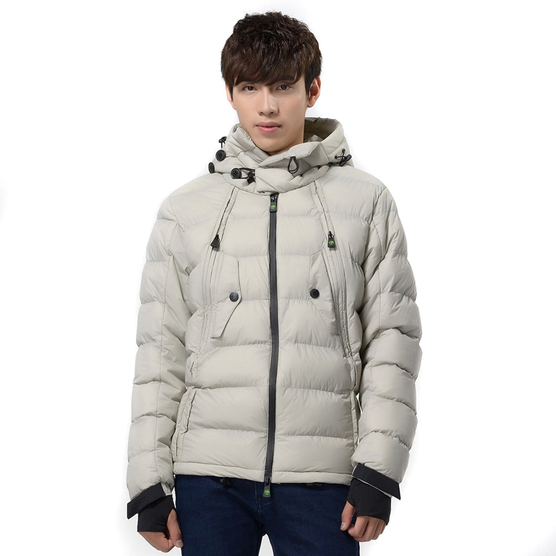 ФОТО 2017 Men's Winter Thicker Parkas Fashion Windproof Hooded Coat Men Cotton Warm Parkas Plus Size More Color