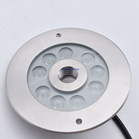 316 stainless steel 27W DMX 512 RGB Underwater LED Light for Fountain Multi color Pond Light LED submersible Ring Light 4pcs/lot