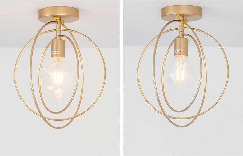 Винтажные светодиодные потолочные светильники Lamparas De Techo lustre Luminaria Abajur, потолочные светильники для спальни E27