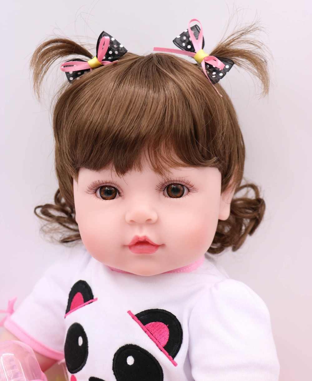 Горячая продажа 22 дюймов куклы Reborn Реалистичная из мягкого силикона детские куклы принцесса вьющиеся волосы bebe мода babydoll menina подарок на день рождения