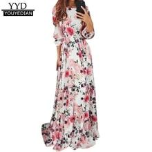 Robe d'été imprimé floral style bo ...