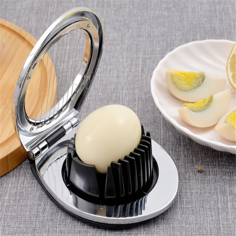 2 In 1 Stainless Steel Egg Slicer Eggs Cutting Slices