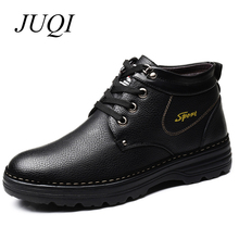 купить Men Winter Boots Men High Quality Snow Boots Plush Inside Antiskid Bottom Keep Warm Waterproof Winter Boots Men дешево