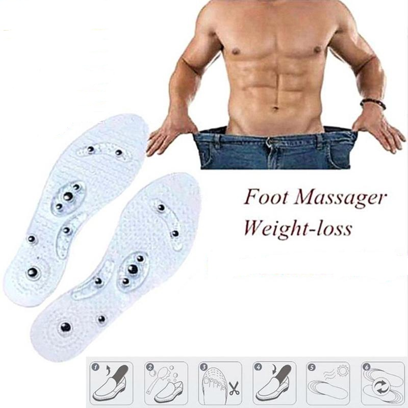 1 Paar Unisex Atmungsaktiv 8-magnet Therapy Akupunktur Magnetotherapy Innensohle