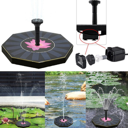 200L/H Floating Solar Power Fountain Panel Kit Garden Water Pump for Birdbath Pool Watering Wide Irrigation Pumps 8V 1.0W