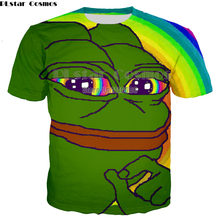 Newest Naughty Frog pepe 3D T shirt women men originality lovely cartoon shirts Hot sale Brand good quality casual tops(China)