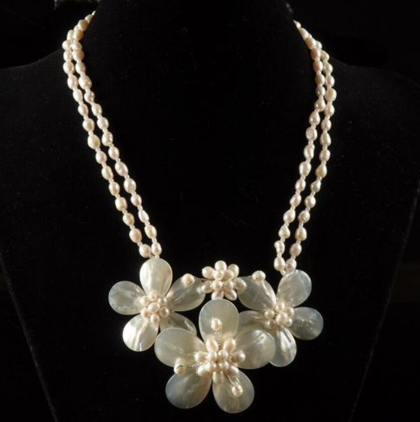 Nouveau collier de perles en forme de perle 18-21