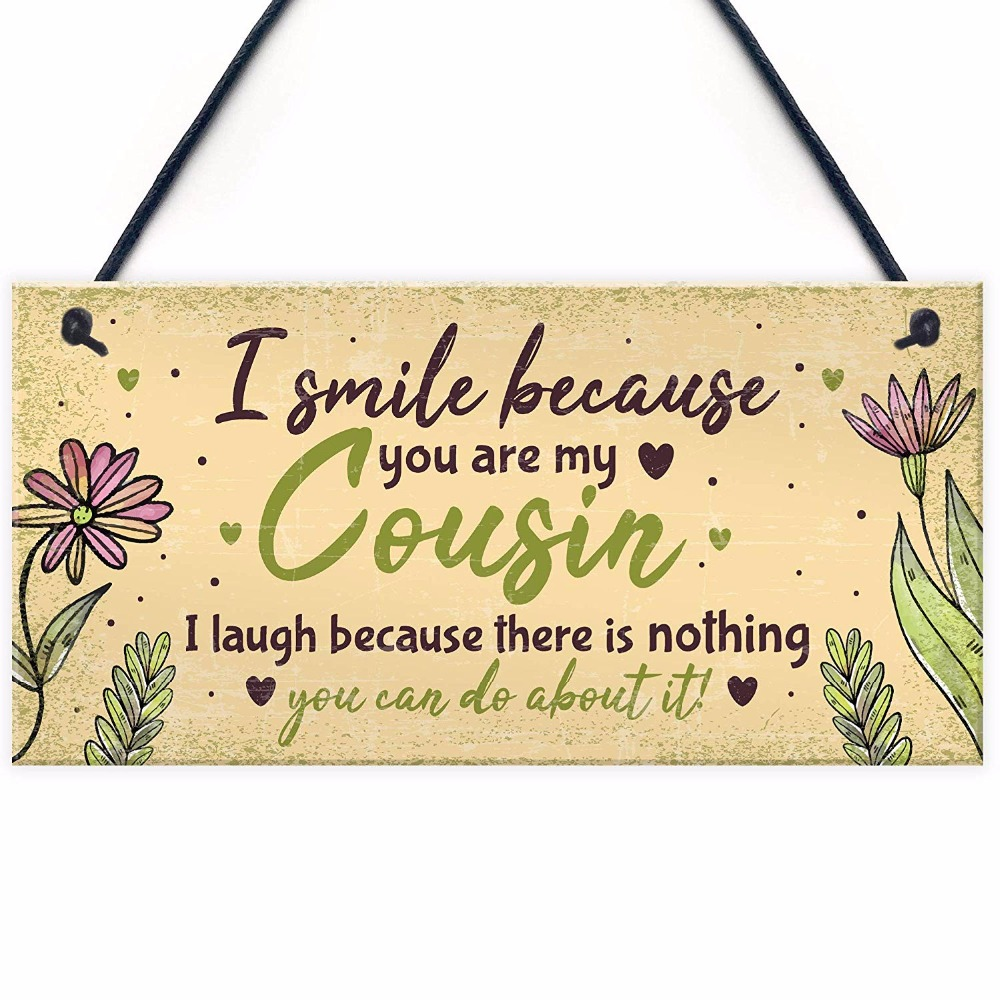 Hanging Brother Plaque Family Wooden Wall Sign Shabby Chic Gift Idea Novelty