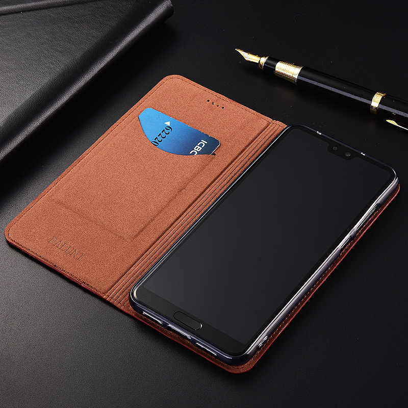 Top Genuine Cow Leather Magnetic Case For Huawei Honor Note 8 10 Note8 Note10 Stand Flip Retro Phone Case Cover