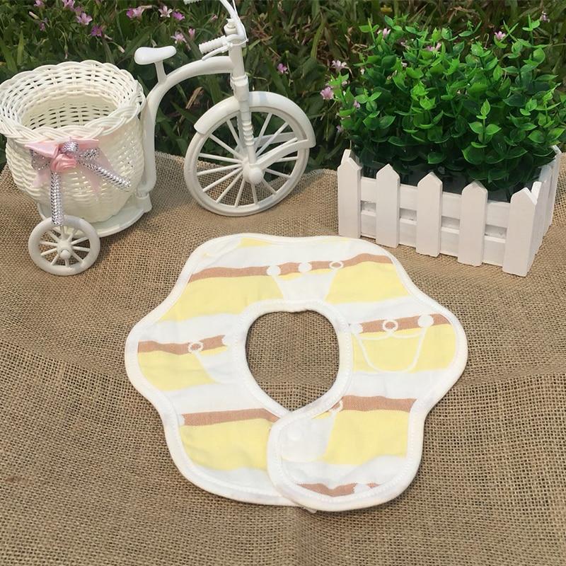 Baby bibs Waterproof Cartoon Floral Newborn Dual Use Bandana Bibs Infant Cotton Bibs Newborn Absorbent Neckerchief Burp Cloth