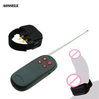 Remote Control Electric Shock Penis Ring Adult Sex Toys For Men/Gay/Couples Chastity Cage Belt Cock Ring Cockring Penis Sleeve