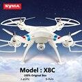 X8c syma helicóptero rc drone quadcopter 2.4g 6 canales 6axis profesional 2mp hd gran angular cámara de control remoto quadcopter de juguete de regalo