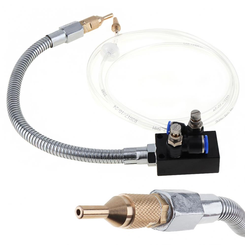 Precision Mist Coolant Lubrication Spray System with Stainless Steel Flexible Pipe Cooling Misting for Metal Cutting EngravingPrecision Mist Coolant Lubrication Spray System with Stainless Steel Flexible Pipe Cooling Misting for Metal Cutting Engraving