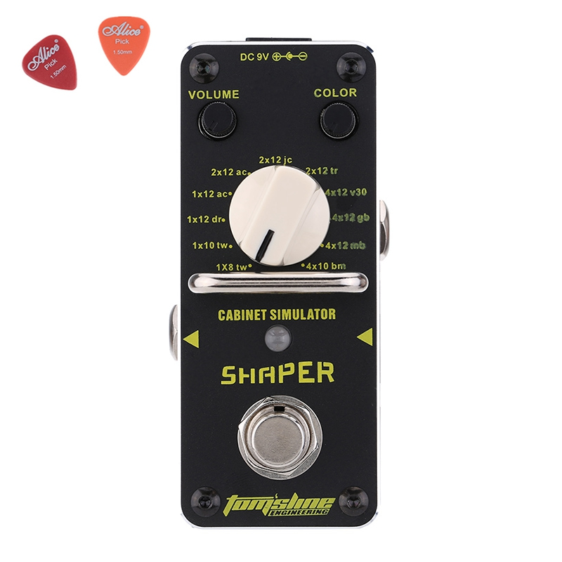 Aroma ASR-3 ASR-3 SHAPER Classic Cabinet Simulator Mini Digital Guitar Effect Pedal Aluminium Alloy Pedals With True Bypass mooer ensemble queen bass chorus effect pedal mini guitar effects true bypass with free connector and footswitch topper