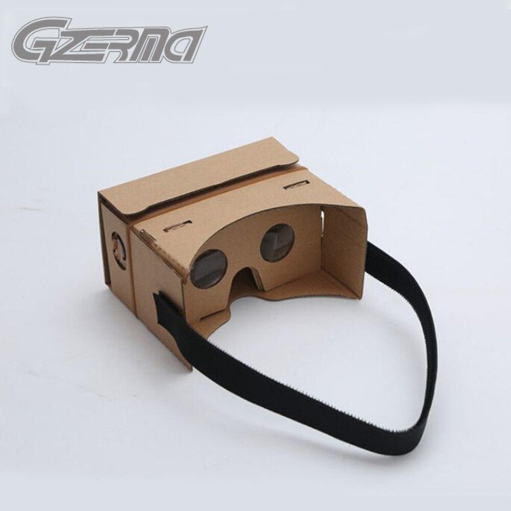 Hot Sale DIY Google <font><b>Cardboard</b></font> VR Virtual Reality Goggles <font><b>For</b></font> All Smartphone Below 6.0 inch 3D Viewing Glasses With <font><b>Head</b></font> <font><b>Mount</b></font>
