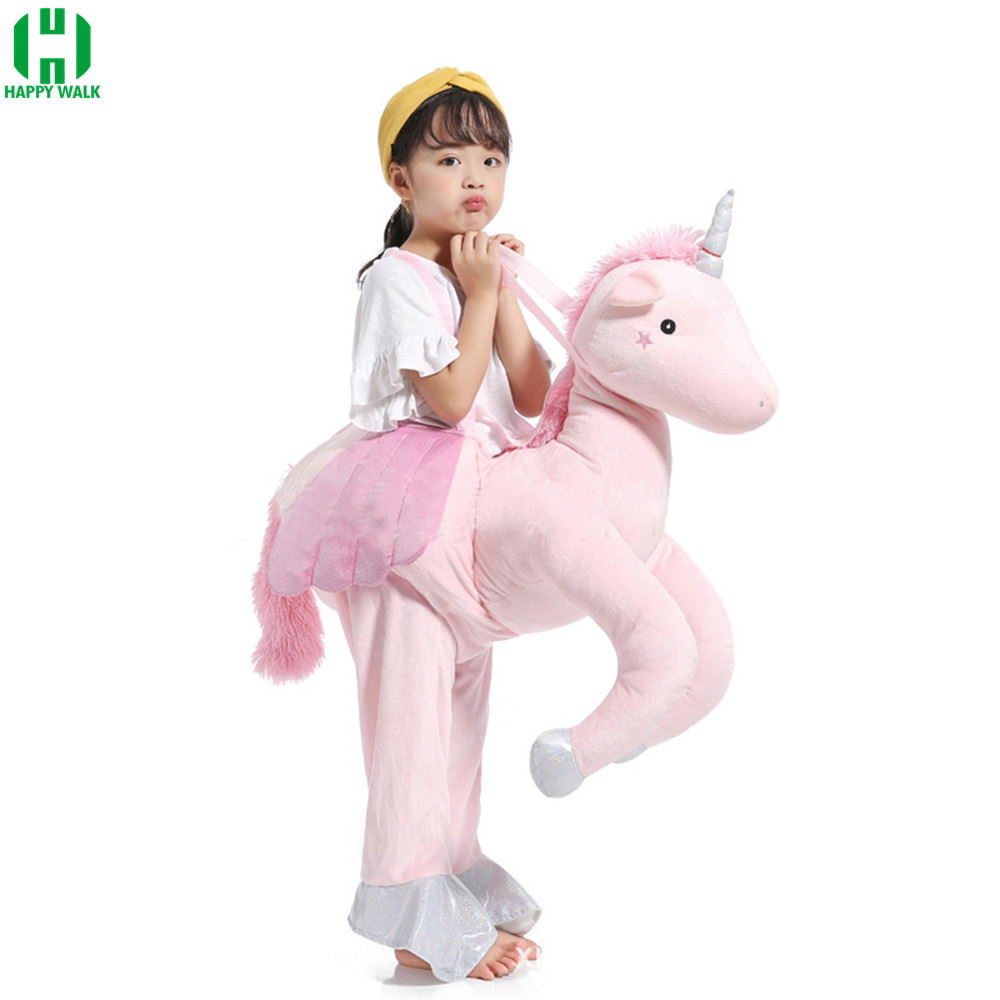 Piggyback Unicorn Riding Shoulder Unisex Ride Costume Cosplay Disguise Halloween