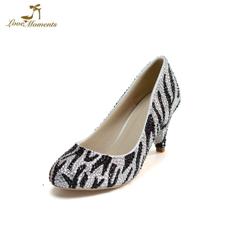 e1ca2bbf578 2018 Custom Made Women Party Prom Shoes 2 Inches Kitten Heel Women Spring  Shoes Zebra Rhinestone. US  60.58. Gorgeous Rhienstone Wedding Dress Shoes  High ...