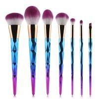 7PCS Professional Makeup Brushes Sets Powder Foundation Hair Brush Eyebrow Eyeliner Blush Lip Hair Brush Cosmetics Tools Health & Beauty