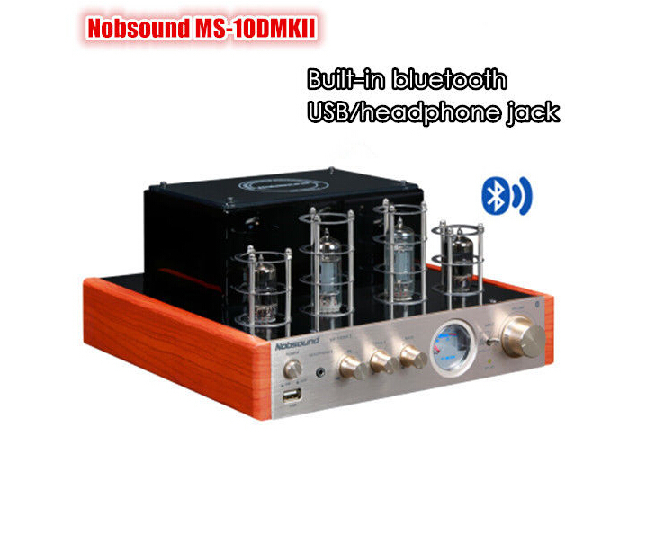 Nobsound MS-10D MKII tube amplifier with Bluetooth/USB/headphone HIFI Finished Product 110-240V аудио усилитель nobsound ms 10dmkii 2 0 usb bluetooth hifi 25w 2 110 220 fors ms 10d