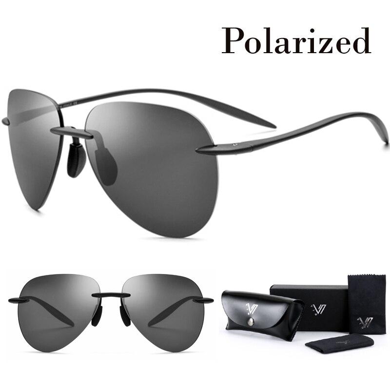 Zuversichtlich Tr90 Randlose Hd Polarisierte Sonnenbrille Männer Licht Flexible Luftfahrt Sonne Gläser Für Frauen Mit Nylon Objektiv Oculos Gafas De Sol Neue ZuverläSsige Leistung Sonnenbrillen