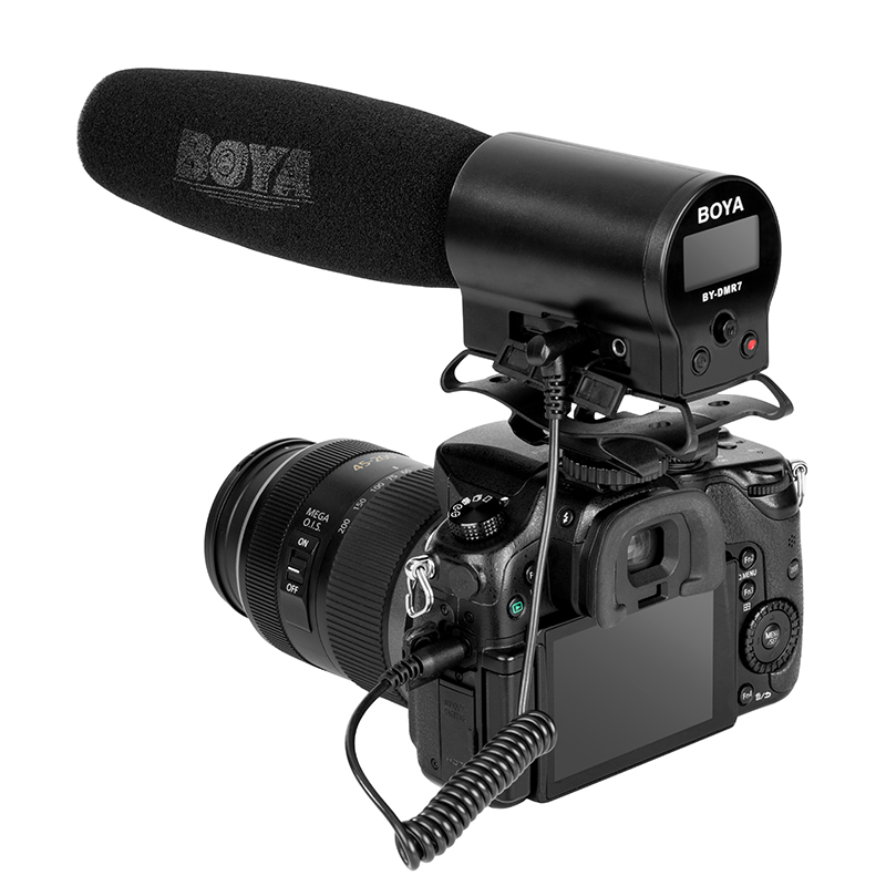 Boya By Dmr7 Integrated Flash Microphone With Lcd For Dslr Cameras