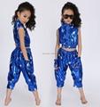 Retails!! Free Shipping New 2015 Unisex Kids Clothing Set Hip Hop Performance Clothing Short Pants Jazz Dance Costumes