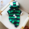 Детская Одежда Зима Новогодние костюмы для мальчиков девушки плюс бархат теплый новорожденных Комбинезоны детские Комбинезон ползунки пижамы 2016