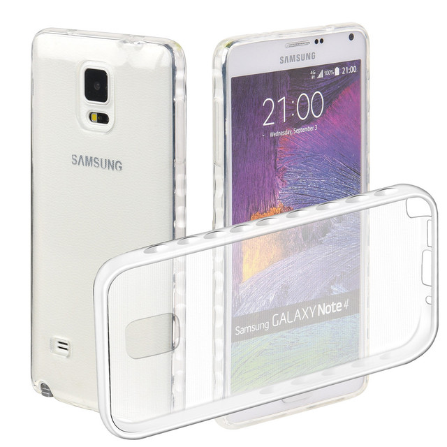 Note4 Cases For Samsung Galaxy Note 4 LTE SM-N910F N910H SM-N910C N916L N916S N9109W Transparent TPU Silicon Covers Full Housing
