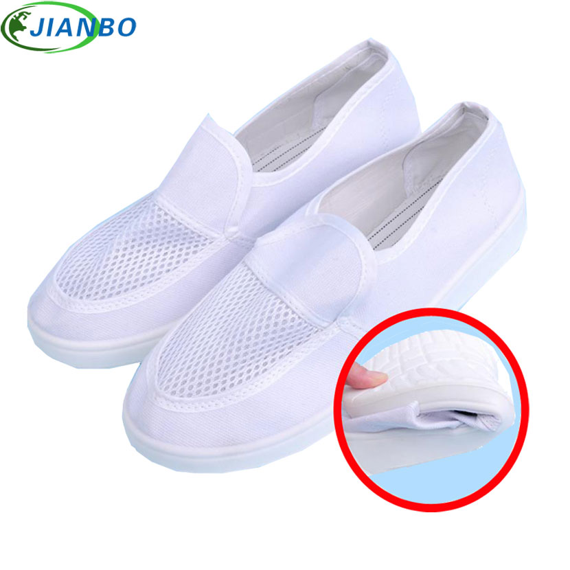 2018 Summer Shoes Anti-static Canvas Breathable Shoes Men Running PVC Casual Dust Free Room Work Breathable Unisex Safety Boots