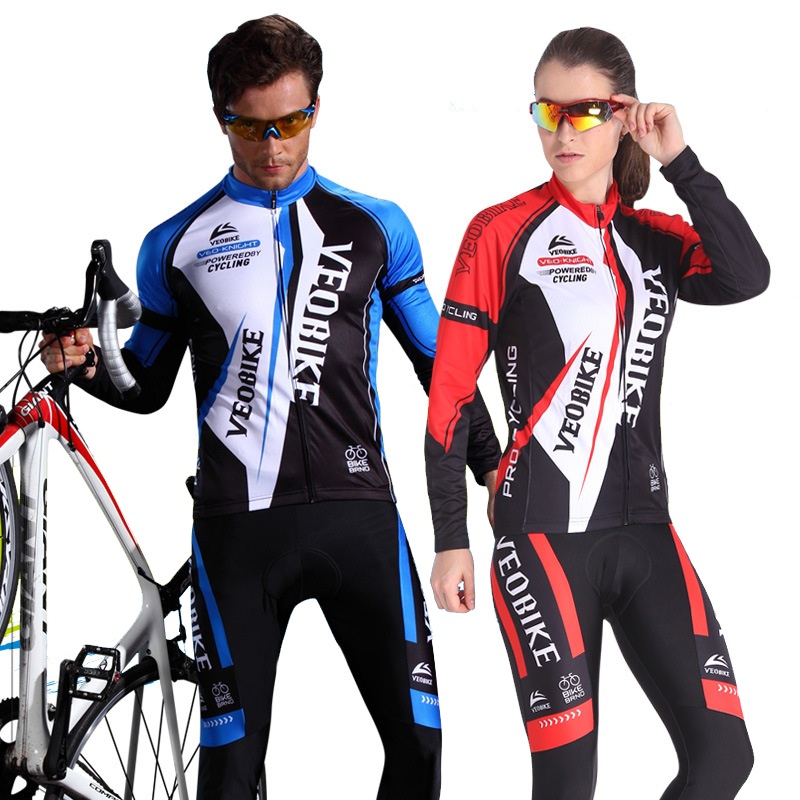 Men Women's Cycling Jersey Set Breathable Cycling Clothing Outdoor Bike Clothing Long Sleeve Bicycle Wear Jersey Sets cycling jersey womenpurple flowershort sleeve cycling clothing women cycling jersey cycling sets x608