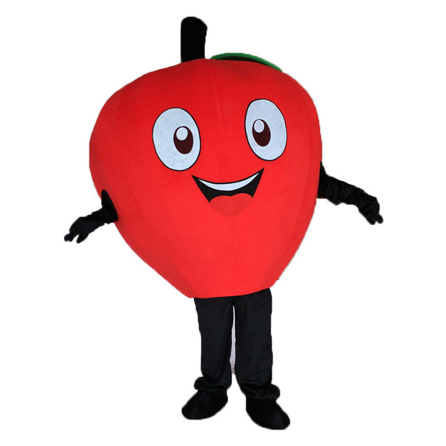 Costume de mascotte de petite pomme rouge de haute qualité Costume de personnage de dessin animé déguisement adulte costumes de carnaval de cosplay dhalloween