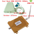 Full Set Dual Band 65dbi CDMA 850MHz + PCS 1900Mhz  Repeater  Mobile Phone Signal Repeater CDMA PCS Booster Amplifier+Antenna
