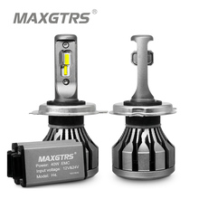 MAXGTRS Car LED Headlight H7 H4 LED H8/H11 HB3/9005 HB4/9006 9012 CSP Chip 60W 6000lm Auto Bulb Headlamp 6000K Fog Light autoshine 9005 9006 hb3 hb4 led headlight car light source replacement 60w 7200lm auto headlight headlamp fog lamp drl with fan