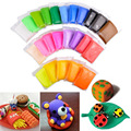 24 Colors DIY Craft Soft Clay Plasticine Blocks Fimo Effect Modeling Polymer Toy YH-17