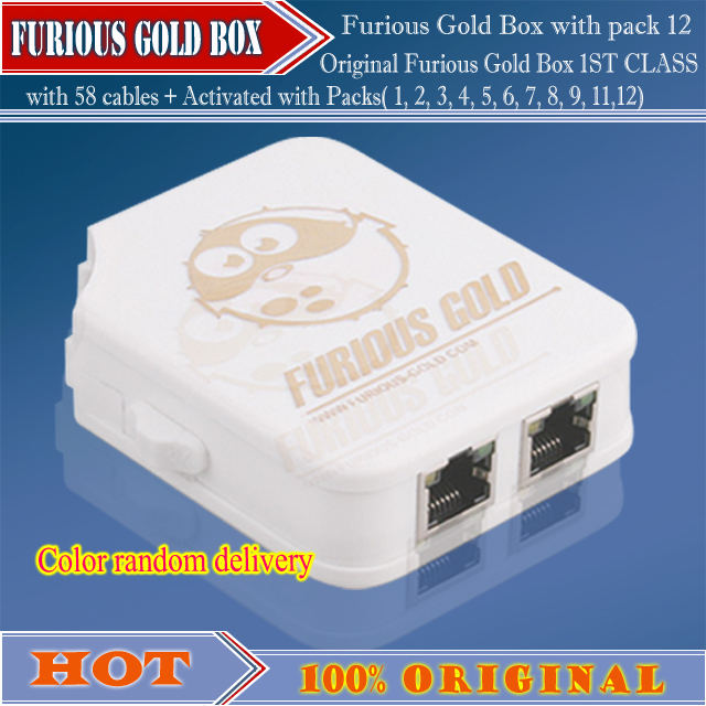 Original  Furious Gold box with pack1-pack12(no have Pack9,10)+38cables